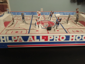 Dad, Hockey, and Game: LAY WAYNE CONNELLY  ED GIACOMIN  BOB WALL  EO BOIVI  FRANK MAHOV  BOBBY ORR  J. C.TR  BRIT SELB  PLAYERS ASSOCIATION  HLPA AL PRO HOC Was cleaning out my Grandmother's house, & found my Dad's old hockey foosball game.