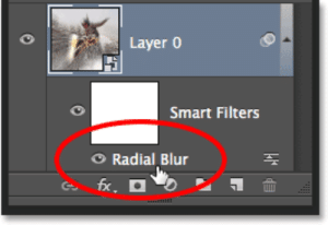 Radial Blur Action Effect In Photoshop: Layer O  Smart Filters  Radial Blur  fx.  illlil Radial Blur Action Effect In Photoshop