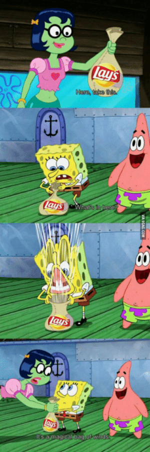 I think everyone here can agree: lays  Here, take this  lays What's in fhere?  Lays  lays  It's a magical bag of winds  VIA 9GAG.COM I think everyone here can agree