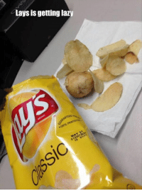Funny, Lay's, and Lazy: Lays is getting lazy  TEEDR 35 Random Funny Pictures