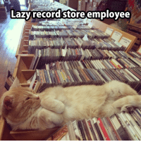 Well, it is Friday!: Lazy record store employee Well, it is Friday!