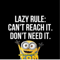 Minion Quotes | Share Like Enjoy !: LAZY RULE  CAN'T REACH IT  DON'T NEED IT Minion Quotes | Share Like Enjoy !