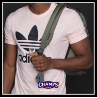 Memes, Sports, and Game: ldi  CHAMPS  SPORTS  WE KNOW GAME All in the bag. @adidasoriginals tees and backpacks available now at Champs!