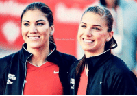 Hope Solo and Alex Morgan. 'Nuff said.: le  Erll  Σ  e Hope Solo and Alex Morgan. 'Nuff said.