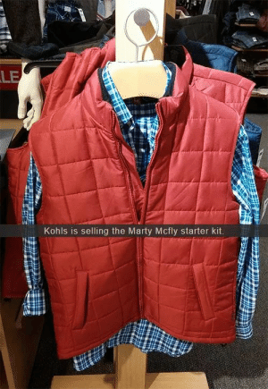 Looking pretty McFly: LE  Kohls is selling the Marty Mcfly starter kit Looking pretty McFly