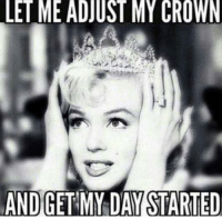 Good morning...Happy hump day!: LE ME ADJUST MY CROWN  AND GET MYDAYSTARTED Good morning...Happy hump day!