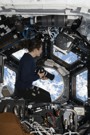 "photos-of-space:  NASA Astronaut Christina H. Koch, ISS Expedition 60 Flight Engineer, ""looks through the station's 'window to the world,' the seven-windowed cupola"" on 11 Aug 2019. She ""was photographing landmarks as the orbiting lab flew 259 miles above the Atlantic Ocean off the coast of South America.""[3712x5568]: le photos-of-space:  NASA Astronaut Christina H. Koch, ISS Expedition 60 Flight Engineer, ""looks through the station's 'window to the world,' the seven-windowed cupola"" on 11 Aug 2019. She ""was photographing landmarks as the orbiting lab flew 259 miles above the Atlantic Ocean off the coast of South America.""[3712x5568]"