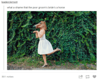 grooms bride: leaderclemont  what a shame that the poor groom's bride's a horse  961 notes