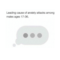 Facts, Anxiety, and Dank Memes: Leading cause of anxiety attacks among  males ages 17-36. Facts