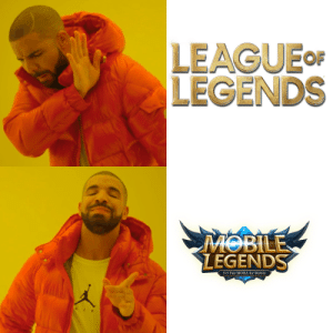 A meme I cooked up while smurfing in Bronze: LEAGUE OF  LEGENDS  MOBILE  LEGENDS  5v5 Fair MOBA for Mobile  AI A meme I cooked up while smurfing in Bronze