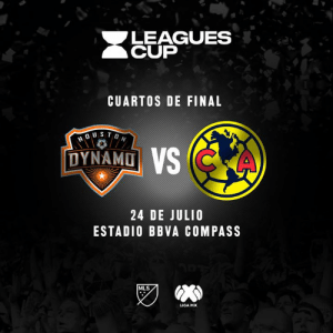 ¡Mañana debutamos en la Leagues Cup🏆!  🎫➡️ bit.ly/2YbnzI8 Houston Dynamo 🆚 Club América  🏟 BBVA Compass Stadium 📍 Houston, Texas: LEAGUES  CUP  CUARTOS DE FINAL  DUSTON  DYNAMO VS CKA  24 DE JULIO  ESTADIO BBVA COMPASS  MLS  LIGA MX ¡Mañana debutamos en la Leagues Cup🏆!  🎫➡️ bit.ly/2YbnzI8 Houston Dynamo 🆚 Club América  🏟 BBVA Compass Stadium 📍 Houston, Texas