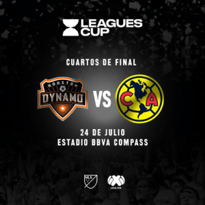 We're heading to Houston this summer!  Houston Dynamo 🆚 América  🦅 // Leagues Cup ⚽️ // Quarterfinals  📆 // July 24 🏟️ // BBVA Compass Stadium: LEAGUES  CUP  CUARTOS DE FINAL  DYNAMD  24 DE JULIO  ESTADIO BBVA COMPASS  MLS  LIGA MX We're heading to Houston this summer!  Houston Dynamo 🆚 América  🦅 // Leagues Cup ⚽️ // Quarterfinals  📆 // July 24 🏟️ // BBVA Compass Stadium