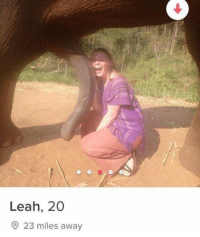 Dank, Date, and 🤖: Leah, 20  23 miles away Would you go on a date with her? Looks like she has high expectations