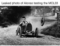 """Memes, F1, and 🤖: Leaked photo of Alonso testing the MCL33  wtf1. Via @wtf1official - """"GP2 wheel nut"""" f1 formula1 f1testing wtf1"""