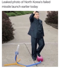 missile launch: Leaked photo of North Korea's failed  missile launch earlier today
