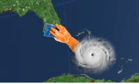 Leaked picture of Hurricane Irma's intentions: Leaked picture of Hurricane Irma's intentions