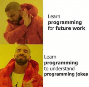 Amazing reason to love it!!: Learn  programming  for future work  Learn  programming  to understand  programming jokes Amazing reason to love it!!