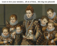 Classical Art, Creeper, and Creepers: Learn to love your mistakes  all six of them  (the dog was planned Bottom left is a creeper