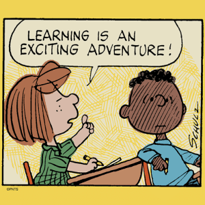 Memes, Never, and 🤖: LEARNING IS AN  EXCITINGADVENTURE  OPNTS Never stop learning.