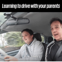 Dank, Parents, and Drive: Learning to drive with your parents  Slow down This is absolute gold 😂😂