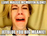 Leave Maggie McMuffin Alone!!: LEAVE MAGGIE MCMUFFIN ALONE!  JETBLUE YOU BIG MEANIE!  mgflipcom Leave Maggie McMuffin Alone!!