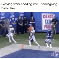 Memes, Nfl, and Thanksgiving: Leaving work heading into Thanksgiving  break like  Ly  PRID  NFL Pretty much 😂 https://t.co/mIIopSK8BB