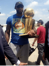 """Lebron is wearing a Kermit the Frog sipping tea hat and a shirt that says """"Ultimate Warrior."""" Straight savage: Lebron is wearing a Kermit the Frog sipping tea hat and a shirt that says """"Ultimate Warrior."""" Straight savage"""