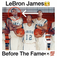 LeBron before the Fame 😨🔥 - Follow (ME) @cleanestclipz for more! 🏀: LeBron James  Before The Fameo  100  e LeBron before the Fame 😨🔥 - Follow (ME) @cleanestclipz for more! 🏀