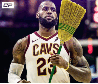 LeBron James is bringing out the broom. #SorryRaptors: LeBron James is bringing out the broom. #SorryRaptors