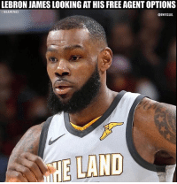 Who did this? 💀😭: LEBRON JAMES LOOKING AT HIS FREE AGENT OPTIONS  NBAMEMES  @BWVISUAL  HE LAND Who did this? 💀😭