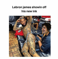 Los Angeles Lakers, LeBron James, and Memes: Lebron james sho  his new ink  win off  7 Gettin ready to monst around this year🏀 😀 @kingjames @lakers monstiality whatabeast