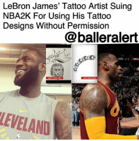 "LeBron James' Tattoo Artist Suing NBA2K For Using His Tattoo Designs Without Permission– blogged by @MsJennyb ⠀⠀⠀⠀⠀⠀⠀ ⠀⠀⠀⠀⠀⠀⠀ Famed tattoo artist, James Hayden, who is best known for inking the likes of TristanThompson, DannyGreen, KyrieIrving and LeBronJames, is suing the company behind a video game for stealing his work. ⠀⠀⠀⠀⠀⠀⠀ ⠀⠀⠀⠀⠀⠀⠀ In a lawsuit obtained by TMZ, Hayden is accusing the company behind the popular basketball game, NBA2K17, for using his artwork without his permission. ⠀⠀⠀⠀⠀⠀⠀ ⠀⠀⠀⠀⠀⠀⠀ The game is best known for its lifelike features and commentary. The game displays the life-like characteristics of the players, from their moves and their favorite sayings, all the way down to their facial features and tattoos. However, Hayden says the game did not ask to feature The King's ""Gloria"" tattoo or his ""Lion Design,"" as he says he owns the rights to the designs. ⠀⠀⠀⠀⠀⠀⠀ ⠀⠀⠀⠀⠀⠀⠀ In the suit, Hayden lets it be known that he isn't the first artist, and probably won't be the last, to sue for their artwork. The suit cites an instance where Mike Tyson's tattoo artist took ""The Hangover 2"" cast to court over using Tyson's design in the movie without proper permission. As a result, Hayden wants 2k Games Inc to pay up for their detail work in NBA2k16, '17 and '18. ⠀⠀⠀⠀⠀⠀⠀ ⠀⠀⠀⠀⠀⠀⠀ Although Hayden didn't provide an amount, he says he wants a portion of the profits from the game franchise.: LeBron James' Tattoo Artist Suing  NBA2K For Using His Tattoc  Designs Without Permission  @balleralert  SHO  DER  EVELAND LeBron James' Tattoo Artist Suing NBA2K For Using His Tattoo Designs Without Permission– blogged by @MsJennyb ⠀⠀⠀⠀⠀⠀⠀ ⠀⠀⠀⠀⠀⠀⠀ Famed tattoo artist, James Hayden, who is best known for inking the likes of TristanThompson, DannyGreen, KyrieIrving and LeBronJames, is suing the company behind a video game for stealing his work. ⠀⠀⠀⠀⠀⠀⠀ ⠀⠀⠀⠀⠀⠀⠀ In a lawsuit obtained by TMZ, Hayden is accusing the company behind the popular basketball game, NBA2K17, for using his artwork without his permission. ⠀⠀⠀⠀⠀⠀⠀ ⠀⠀⠀⠀⠀⠀⠀ The game is best known for its lifelike features and commentary. The game displays the life-like characteristics of the players, from their moves and their favorite sayings, all the way down to their facial features and tattoos. However, Hayden says the game did not ask to feature The King's ""Gloria"" tattoo or his ""Lion Design,"" as he says he owns the rights to the designs. ⠀⠀⠀⠀⠀⠀⠀ ⠀⠀⠀⠀⠀⠀⠀ In the suit, Hayden lets it be known that he isn't the first artist, and probably won't be the last, to sue for their artwork. The suit cites an instance where Mike Tyson's tattoo artist took ""The Hangover 2"" cast to court over using Tyson's design in the movie without proper permission. As a result, Hayden wants 2k Games Inc to pay up for their detail work in NBA2k16, '17 and '18. ⠀⠀⠀⠀⠀⠀⠀ ⠀⠀⠀⠀⠀⠀⠀ Although Hayden didn't provide an amount, he says he wants a portion of the profits from the game franchise."