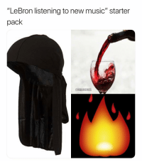 "Basketball, Music, and Nba: ""LeBron listening to new music"" starter  pack  @NBAMEMES The Accuracy 😂 (Via ‪HoopeFiasco‬-Twitter)"