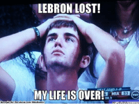 Facebook, Life, and Meme: LEBRON LOST!  MY LIFE IS OVER!  a MIA  08.3  Brought By: Facebook.com/NBAHumor  What IpijM Emotional Heat Fans! Credit: Anthony Corrales  http://whatdoumeme.com/meme/feivnh
