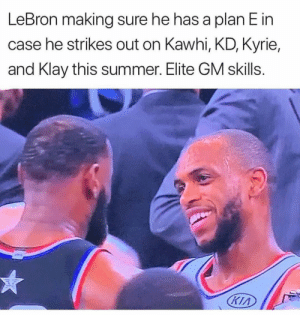 😂😭😂😭😂😂: LeBron making sure he has a plan E in  case he strikes out on Kawhi, KD, Kyrie,  and Klay this summer. Elite GM skills.  Кіл 😂😭😂😭😂😂