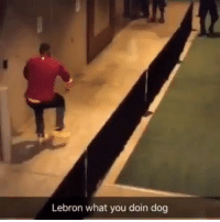 """Funny, Celtics, and Lebron: Lebron what you doin dog """"Lebron how you feel about playing the celtics?""""  https://t.co/ABEXEc3tWu"""
