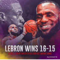 Dwyane Wade, LeBron James, and Beats: LEBRON WINS 16-15  IN HIS  81-GAME CAREER SERIES AGAINST DWYANE WADE IT'S OVER! 15 years and 31 games later, LeBron James beats his lifelong brother, teammate and rival, Dwyane Wade by 3 points! @la_lakeshow