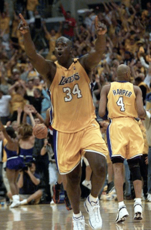 """Bryant…TO SHAQ!!!""  19 years ago today, the Lakers dynasty reached their first Finals together with an iconic lob in Game 7: Lece's  34  4  HARPER ""Bryant…TO SHAQ!!!""  19 years ago today, the Lakers dynasty reached their first Finals together with an iconic lob in Game 7"