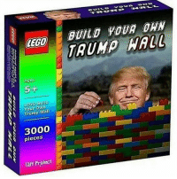 Trump, Project, and Walle: LECO  Agus  5+  Build  Your Own  Wall  Trump  pieces  S Taff Project  BUILD YOUR  WALL
