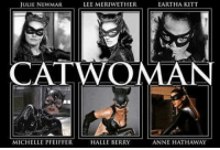 Which was your favorite? ~ The Joker: LEE MERIWETHER  EARTHA KITT  JULIE NEWMAR  CATWOMAN  MICHELLE PFEIFFER  HALLE BERRY  ANNE HATHAWAY Which was your favorite? ~ The Joker