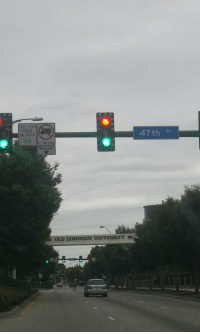 """Memes, 🤖, and Dominion: LEFT TURN  YIELD  ON GREEN  THIS LANE  OLD DOMINION UNIVERSITY  47th st """"Nah go ahead, have fun."""""""
