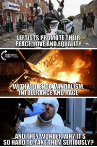 #BigGovSucks: LEFTISTS PROMOTE THEIR  PEACE LOVE ANDEQUALITY  URNING  POINT USA.  WITHIVIOLENGE VANDALISM  INTOLERANCE AND RAGE  ...AND THEY WONDER WHY IT'S  SO HARD TO TAKE THEM SERIOUSLY? #BigGovSucks