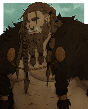 leftski-art:  Say hello to Gaan, my dwarf-orc Barbarian for an upcoming 5e campaign~: leftski-art:  Say hello to Gaan, my dwarf-orc Barbarian for an upcoming 5e campaign~