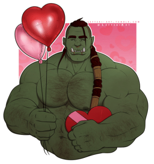 leftski-art:  This Valentine's orc is really sorry he's late :( Will you still accept his love?   @dasspaghettimonster : leftski-art:  This Valentine's orc is really sorry he's late :( Will you still accept his love?   @dasspaghettimonster