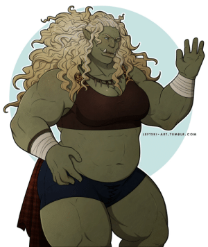 leftski-art:  @trukingofskeletonhell Thank you so much! Consider buff orc ladies considered.This is Grim's mom, whom he loves very much: LEFTSKI ART. TUMBLR.COM leftski-art:  @trukingofskeletonhell Thank you so much! Consider buff orc ladies considered.This is Grim's mom, whom he loves very much