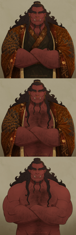 leftski-art:  Jin Toth, Fighter/Wizard Orc King for the AD&D 2e Birthright setting, design inspired by Chinese guardian lions: LEFTSKI-ART.TUMBLR. COM   LFFTSKI-ART TUMBLR. COM   LEFTSKI-ART.TUMBLR.COM leftski-art:  Jin Toth, Fighter/Wizard Orc King for the AD&D 2e Birthright setting, design inspired by Chinese guardian lions