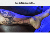 Street Fighter, Tumblr, and Blog: Leg tattoo done right... epicjohndoe:  Street Fighter Tattoo Win