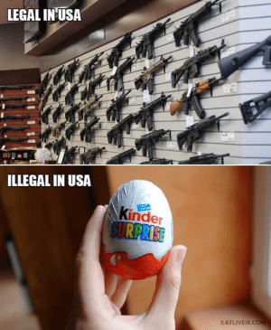 Totally Makes Sense: LEGAL IN USA  ILLEGAL IN USA  Kinder  SURPRISE  CACAO  EATLIVER.COM Totally Makes Sense