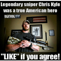 "Memes, Ar15, and Chris Kyle: Legendary sniper Chris Kyle  was true American hero  RIGHT WING  ""LIKE"" if you agree! LIKE IT UP!!!- - - - Merica USA Military Badass Badassery Guns 2ndAmendment MericaMilitaryPosts AR15 USArmy USMarines USNavy USAirForce USCoastGuard Flag Patriot Veteran Patriotic America American Freedom NavySEALs USMC Tactical Troops Operator"