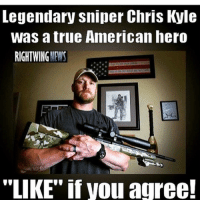 "Double Tap!!: Legendary sniper Chris Kyle  was true American hero  RIGHT WING  NEWS  ""LIKE"" if Vou agree! Double Tap!!"